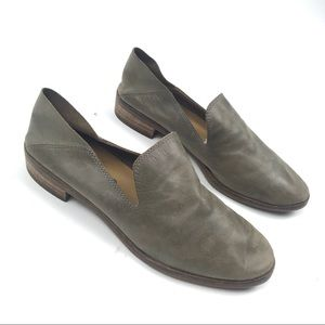 Lucky Brand 6 Slip On Loafers Flats Stacked Heel